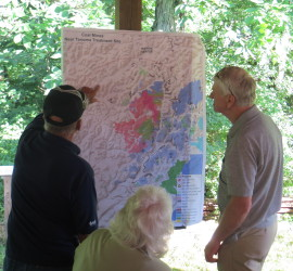 Discussion about the map depicting coal mines near the Tanoma Treatment Site.